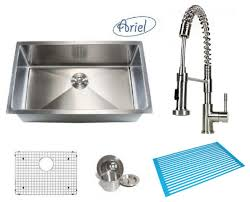 kitchen sink and faucet combo ariel 30 single bowl kitchen sink and coil faucet combo
