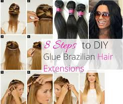 glue extensions 8 steps to diy glue hair extensions the wardrobe stylist