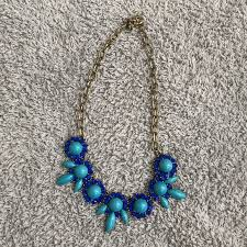 blue necklace images J crew jewelry j crew blue necklace poshmark jpg