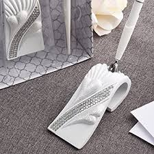 wedding guest registry bling heart design wedding guest registry pen and