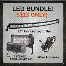 led light bar bundle led bundle package 52 curved light bar 2 pcs 6 5 light bar plus