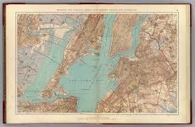 Brooklyn New York Map by Brooklyn N Y Bay Jersey City Hoboken Bayonne Newark Bay