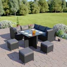modular corner cube dining set in with cushions