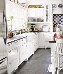 White Kitchen Tile Floor Tile Kitchen Floors White Cabinets Morespoons Bd2158a18d65