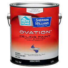 Washable Ceiling Paint by Shop Hgtv Home By Sherwin Williams Ovation White Flat Latex