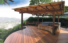 Backyard Patio Images by Interesting Simple Wood Patio Designs For You To Get Relax