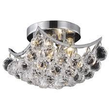 crystal flush mount bathroom lighting interiordesignew com