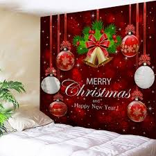 Wholesale Wall Decor Wholesale Wall Decor Merry Christmas Ball Bell Tapestry W59 Inch