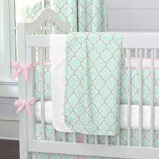 Mint Green Crib Bedding Pink And Green Crib Bedding