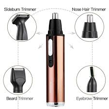 km 6660 4 in 1 nose beard ear beard sideburn trimmer kit travel