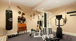 captivating home gym for fitness room ideas with grey carpet floor
