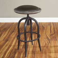 Adjustable Bar Stools Largo Whitney Adjustable Height Steel And Bi Cast Leather Bar