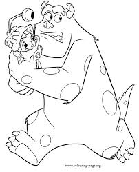 monsters characters coloring pages draw boo boo
