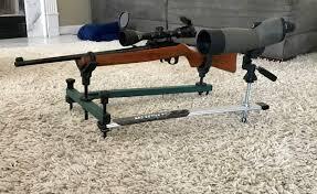 Bench Rest Shooting Rest Diy Shooting Gun Rest With Spotting Scope 4 Steps