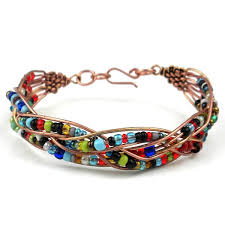 colored bead bracelet images Shop handmade woven copper wire and colorful bead bracelet kenya jpg