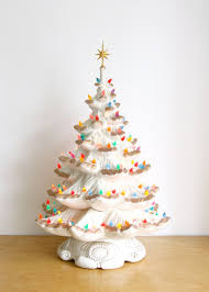 ceramic christmas tree large vintage ceramic christmas tree electric ceramic light