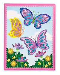 amazon com melissa u0026 doug mess free glitter activity kit flower