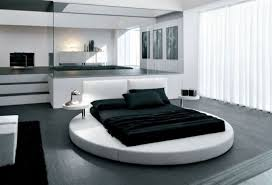 Circular Bed Frame Cool Bedroom With Modern Concept And Furniture As Well