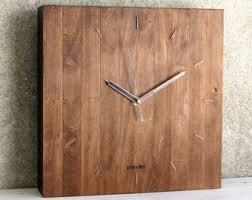 Grande Horloge Murale Carrée En Bois Vintage Achat Horloge Murale Moderne Grande Horloge Horloge Murale En Bois