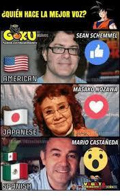 Spanish Memes Facebook - dquien hace la mejor voz usives sean schemmel