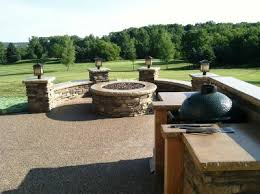 Exposed Aggregate Patio Pictures by Countryside Concrete Inc Fire Pit Patio On The Golf Course
