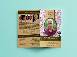 cherry blossom funeral indesign brochure template by