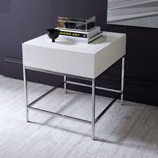 west elm white table lacquer storage side table west elm pertaining to white plans 1