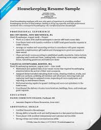 Resume Templates For Housekeeping Housekeeping Resumes Sles Thebridgesummit Co