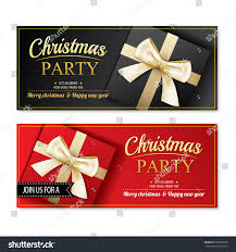 Invitation Cards For Christmas Party Invitation Merry Christmas Party Poster Banner Stock Vector