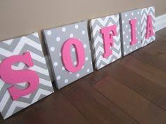 Decorated Letters For Nursery Wall Canvas Letters Nursery Decor Nursery Letters Wooden