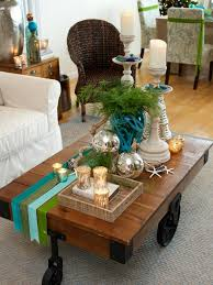 how to decorate a side table in a living room coffee table top beachristmas decorating ideas celebrations