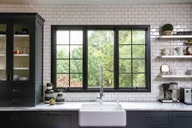 Green Subway Tile Backsplash Transitional Raleigh Metal Countertops Kitchen Transitional With Black