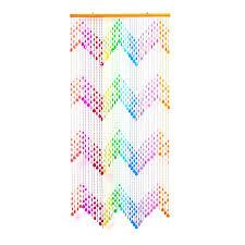 Bamboo Door Beads Australia by Beaded Door Curtain Multi Coloured Droplets Amazon Co Uk