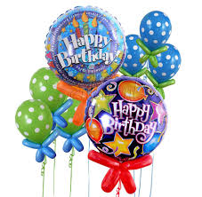 helium birthday balloons birthday balloon bouquet 8 balloons sentiments flowers dubai