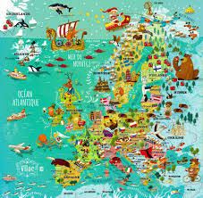 Konstanz Germany Map by Map Of Europe On Behance Illustrated Maps Pinterest Behance