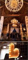 Rustic Wedding Chandelier 30 Romantic Indoor Barn Wedding Decor Ideas With Lights Deer