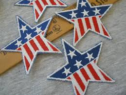 Embroidered American Flag Star Applique Patches American Flag Embroidered Stars 3 25