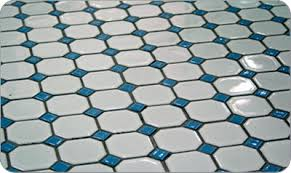 octagon and dot floor tiles in 13 color combinations retro