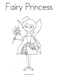 fairy princess coloring page twisty noodle