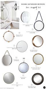 round bathroom mirrors at home and interior design ideas