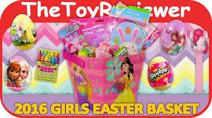 hello easter basket 2016 girl s easter basket princesses hello frozen unboxing