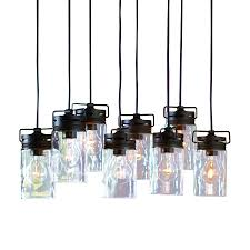 Clear Glass Pendant Lights For Kitchen Island Shop Allen Roth Vallymede 7 7 In Aged Bronze Hardwired Standard