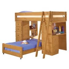 wooden loft bunk bed with desk american woodcrafters crossroads student twin loft bed