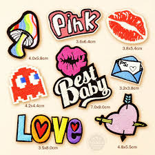 best patch 8pcs lot best baby pink patches badges diy embroidery