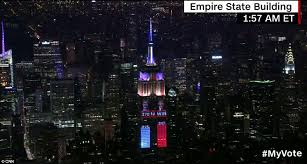 empire state building lights tonight trump takes over manhattan skyline as empire state building displays
