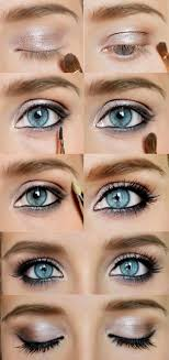 how to do y blue eyes makeup gold eyeshadow tips by makeup tutorials at