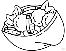 israeli falafel coloring page free printable coloring pages