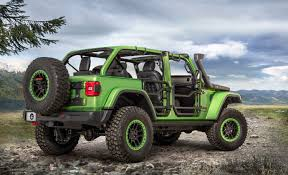 customized 4 door jeep wranglers pair of custom wranglers showcases mopar parts u2013 gas monkey garage