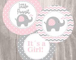 girl baby shower elephant baby shower etsy