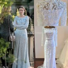 wedding dress elie saab price new gossip girl blair sleeves appliques beaded sequins court